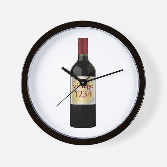 Custom Vintage Wine Wall Clock