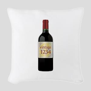 Custom Vintage Wine Woven Throw Pillow