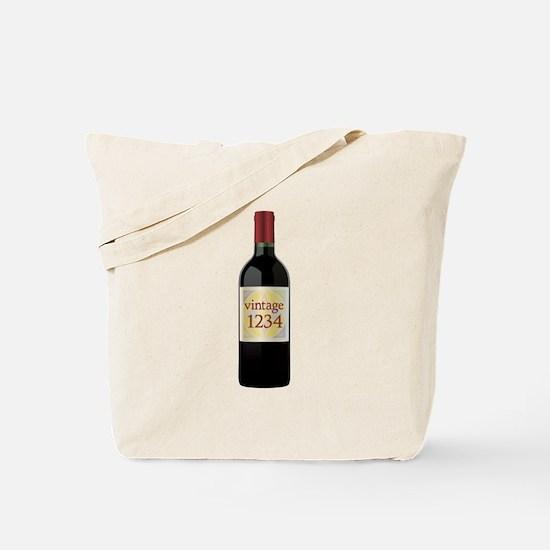 Custom Vintage Wine Tote Bag