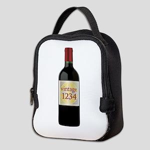 Custom Vintage Wine Neoprene Lunch Bag