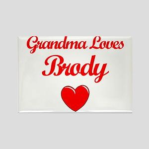 Grandma Loves Brody Rectangle Magnet