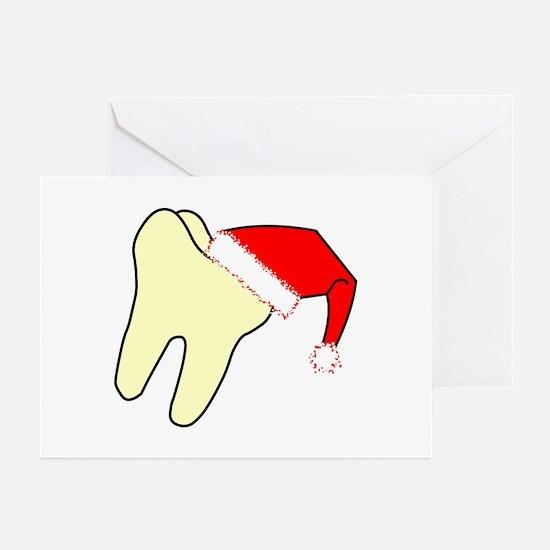 Santa Cap Tooth Greeting Cards