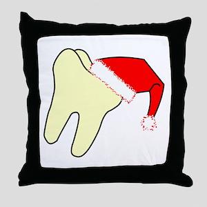 Santa Cap Tooth Throw Pillow