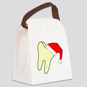 Santa Cap Tooth Canvas Lunch Bag