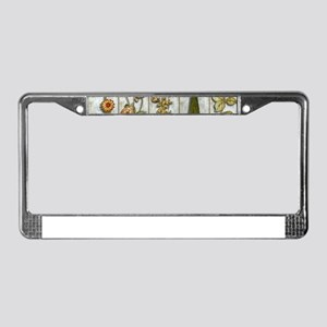 Flowers and Shrub License Plate Frame