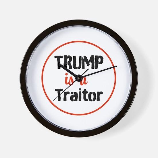 Trump is a traitor Wall Clock