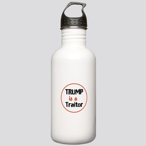 Trump is a traitor Water Bottle