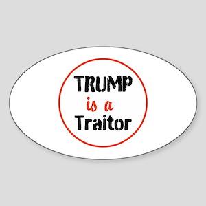 Trump is a traitor Sticker
