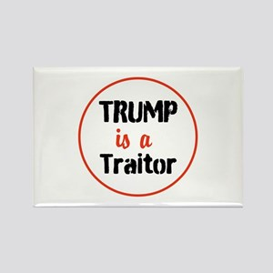 Trump is a traitor Magnets