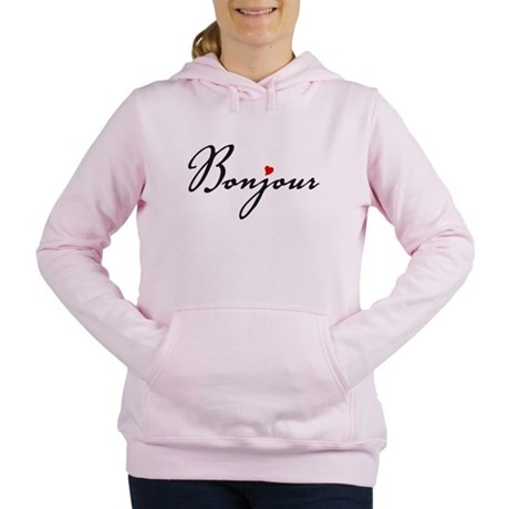 Bonjour with red heart Sweatshirt