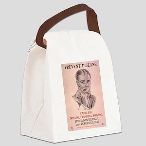 Vintage poster - Prevent Disease Canvas Lunch Bag