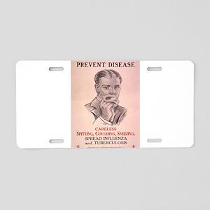 Vintage poster - Prevent Di Aluminum License Plate