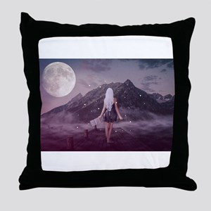 Woman in the Twlight Throw Pillow