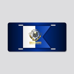 Alpha Flag (CD) Aluminum License Plate