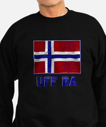 Uff Da Norway Flag Sweatshirt