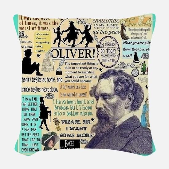 Dickens Woven Throw Pillow