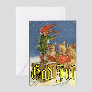 tomtecats_godjul_5x7 Greeting Cards