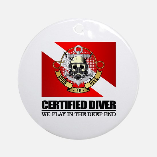 Certified Diver (BDT) Round Ornament