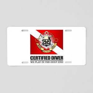 Certified Diver (BDT) Aluminum License Plate