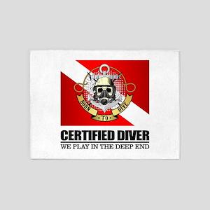 Certified Diver (BDT) 5'x7'Area Rug