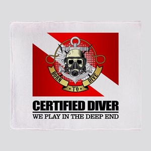 Certified Diver (BDT) Throw Blanket