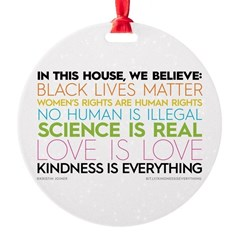 #kindnessiseverything Round Ornament