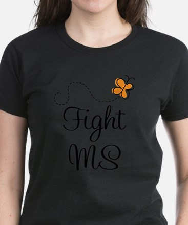 Orange Fight MS Butterfly T-Shirt
