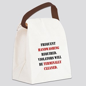 MRSAterminallycleanedWHITE Canvas Lunch Bag