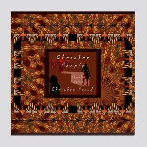 Cherokee People Tile Coaster