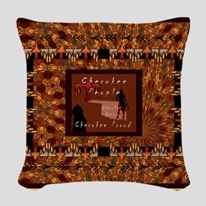 Cherokee People Woven Throw Pillow