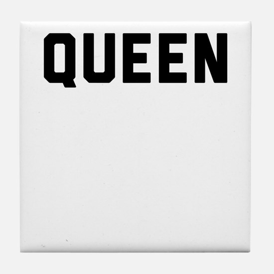 king and queen couple Tile Coaster