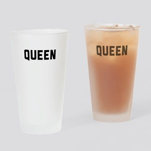 king and queen couple Drinking Glass