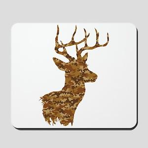 Brown Camo Deer Mousepad