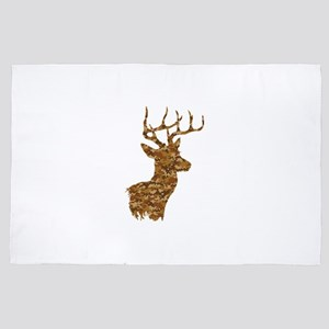 Brown Camo Deer 4' x 6' Rug