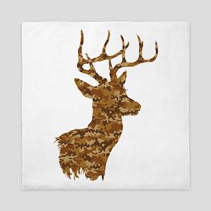 Brown Camo Deer Queen Duvet