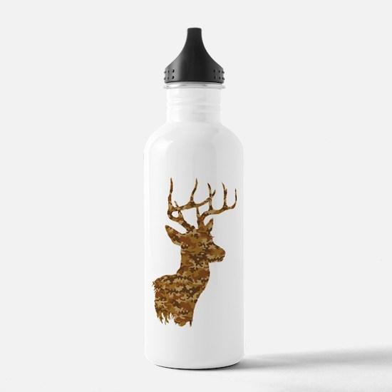 Brown Camo Deer Water Bottle