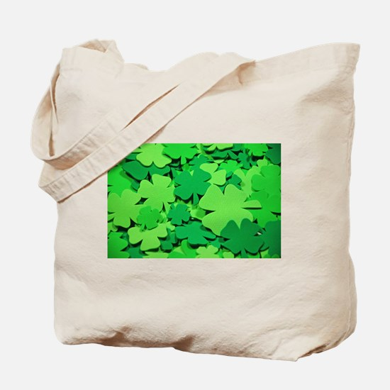 Lucky green clovers Tote Bag