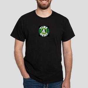 Time 4 Hemp Black T-shirt for men. Dark T-Shirt