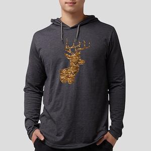Brown Camo Deer Long Sleeve T-Shirt