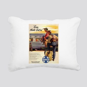 Vintage poster - Gee, th Rectangular Canvas Pillow