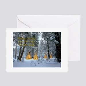 Tipi Village Christmas Cards (Pkg. of 6) Greeting