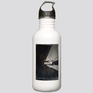 Portland Union Train Station.Tintype Water Bottle