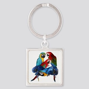 Macaws Square Keychain
