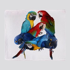 Macaws Throw Blanket