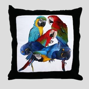 Macaws Throw Pillow