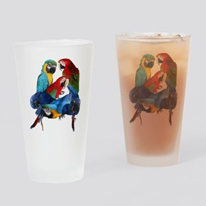 Macaws Drinking Glass