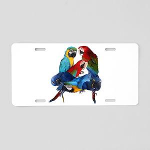 Macaws Aluminum License Plate