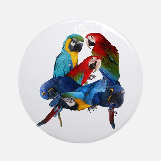 Macaws Round Ornament