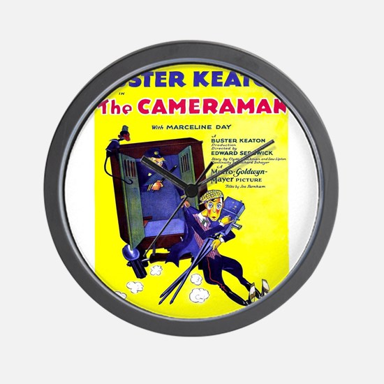 Vintage poster - The Cameraman Wall Clock