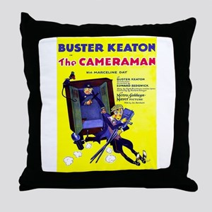 Vintage poster - The Cameraman Throw Pillow